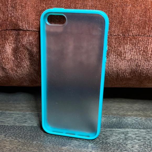 Frosted Teal Border iPhone 5 Case